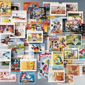 La-banda-Disney-100-francobolli-da-diversi-Paesi-del-Mondo