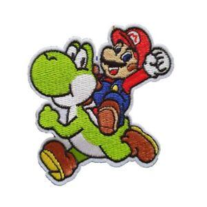Mario riding Yoshi Super Mario Iron On Patch Sew on Transfer Badge - Mario Yoshi