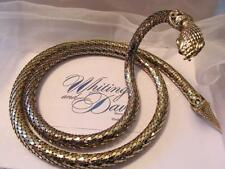 Vintage Whiting & Davis Gold Mesh Snake Belt/Necklace Signed