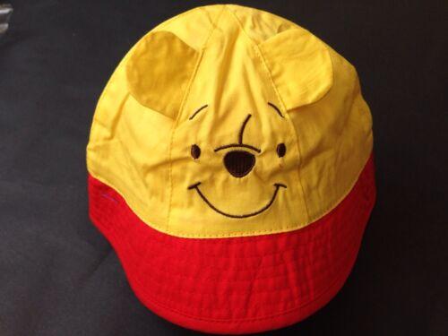 100/% COTTON SUMMER SUN BUCKET HATS HAT BOYS  GIRLS WINNIE THE POOH 6-12M 1-2YRS