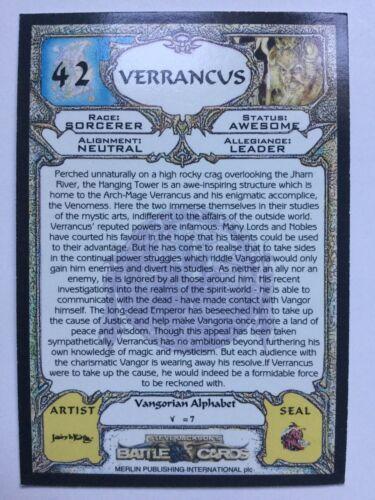Steve Jackson's Battle Trading Card Merlin 42 Verrancus