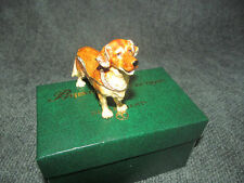 2007 Department 56  Retired Golden Retriver Bejeweled Collection  Crystal Box