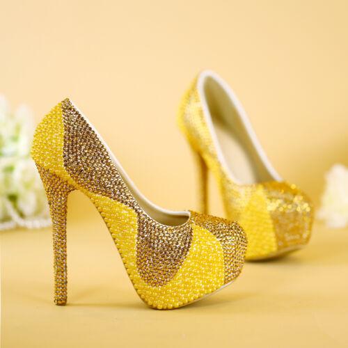 partie de d'or haut de de forme Glissière de talon de paillettes sur des de pompes des célébrité de femmes chaussures plate perles TKc1JlF