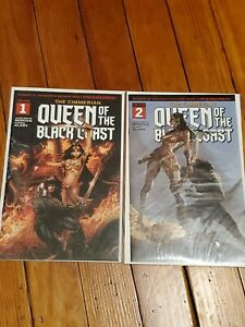 CIMMERIAN queen black coast 1 /& 2 homage variant set ACTION 1 CRISIS 7 ED BENES