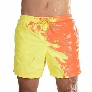 1X-Pantaloncini-Da-Spiaggia-Da-Spiaggia-per-Uomo-un-Cambio-di-Colore-per-Ra-W1W3