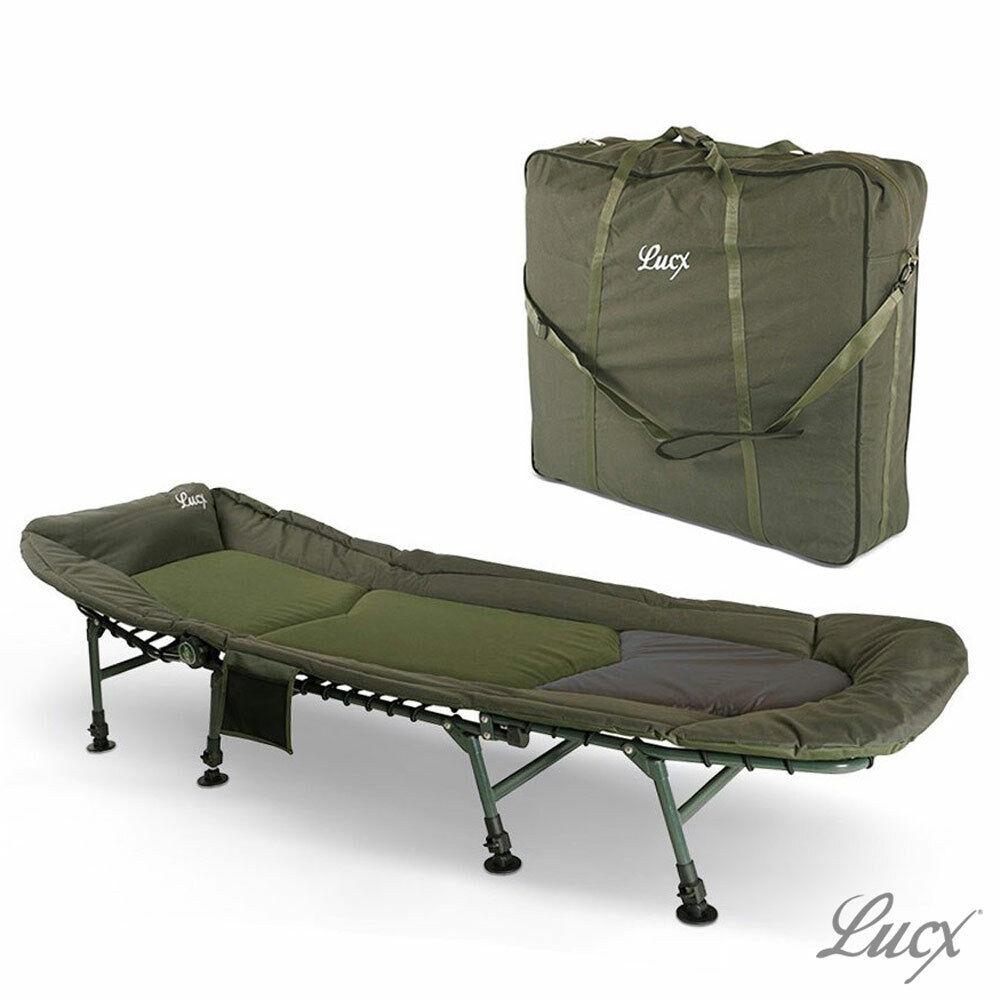 Lucx® Angelliege + Transporttasche Bedchair Bag Karpfen Liege + Tragetasche