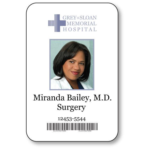 Miranda bailey name badge halloween costume greys anatomy for Hospital id badge template