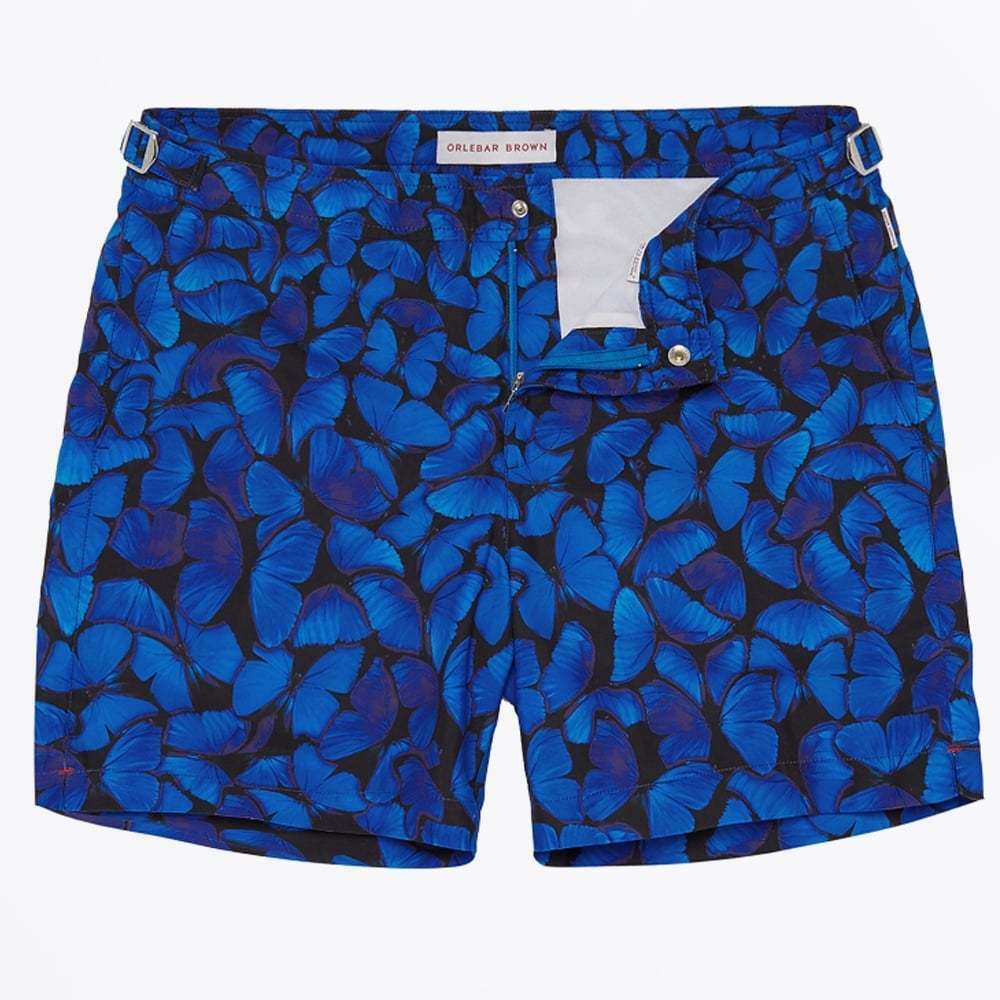 Brand New With Tags Orlebar Brown Bulldog Butterflies Swim Shorts 30  with bag