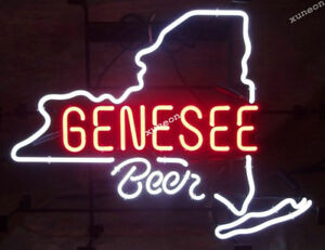 RARE-Genesee-Beer-Rochester-Beer-Bar-Light-Real-Neon-Sign-FAST-FREE-SHIPPING