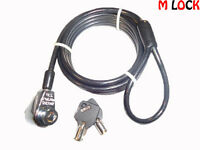 Computer Notebook Laptop Keyed Security Cable Lock Lenovo, Sony, Hp, Dell,asus
