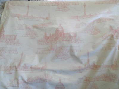 London Scene St Paul/'s Cathedrial  English Toile De Jouy Fabric Antique Style