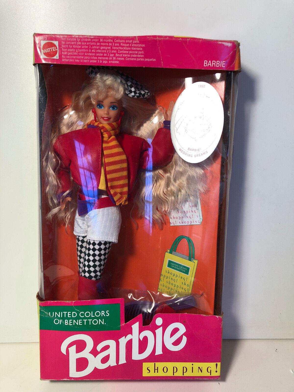 Barbie   Barbie UNITED FarbeS OF BENETTON SHOPPING  1991  NIB 4873 ec43de