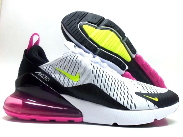 Nike Air Max 270 Mens Ah8050 109 White Black Fuchsia Running Shoes Size 10