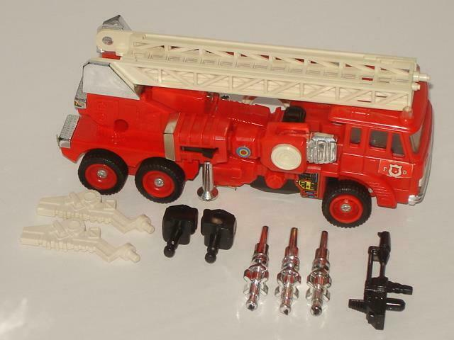 G1 TRANSFORMER AUTOBOT INFERNO COMPLETE   7  LOTS OF PICS  CLEANED MINTY