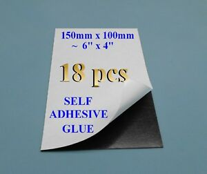 """18Self adhesive flexible refrigerator magnet sheet 15x10cm 6x4"""" &Silicone paper"""