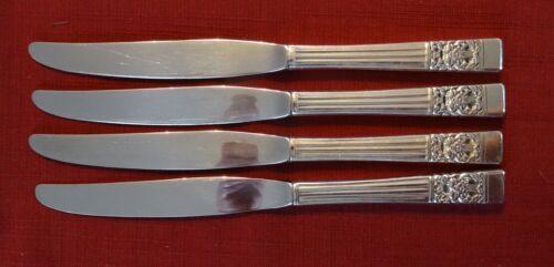 "Community Silverplate CORONATION Lot of 4 Knives 9 1//2/"" plain blade"