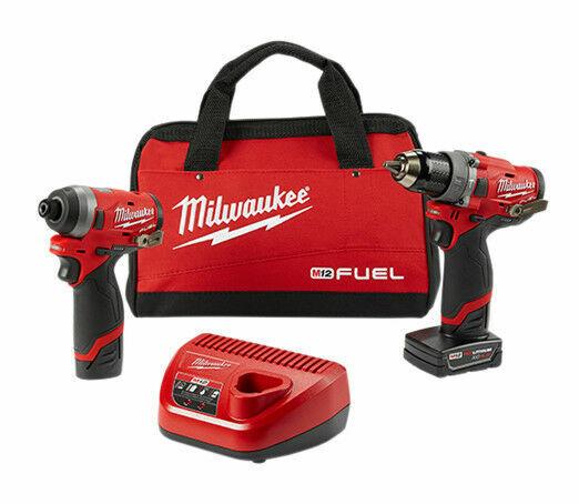 Milwaukee M12 Hammer Drill and Impact Driver - 2598-22 M12 F