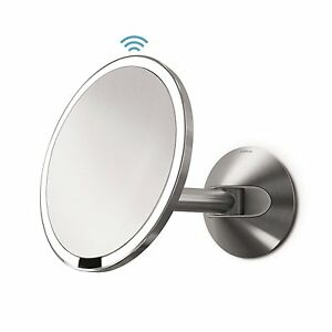 Simplehuman-capteur-miroir-mural-20cm-en-acier-inoxydable-cablee-st3003