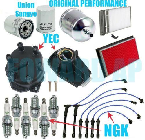PREMIUM Tune Up Kit Wires Plugs Filters Cap Rotor for 2000-2004 Nissan Xterra V6