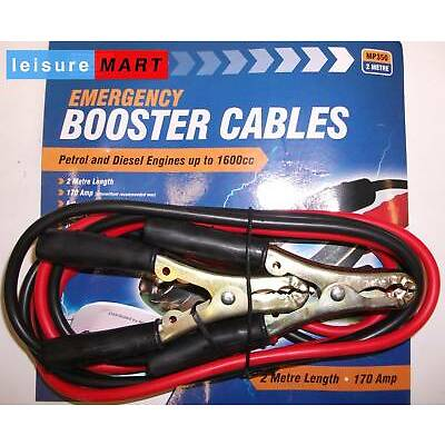 Emergency booster cables jump leads upto 1600cc