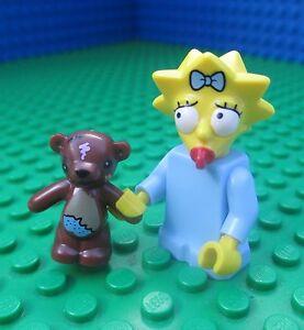 New Genuine LEGO Maggie Simpson Minifig with Teddy Bear Simpsons 71005