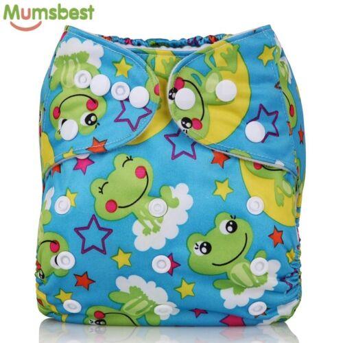 Mumsbest 2018 Washable Baby Cloth Diaper pocket Waterproof Cartoon Owl Baby