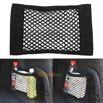 Black Car Rear Trunk Seat Elastic String Net Mesh Storage Bag Organizer Pocket