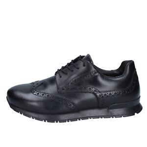 ARTISTI E ARTIGIANI Zapatos Elegantes Hombre Negro Cuero AG216 (42 EU) AHCSMSqR