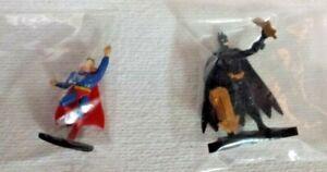 Lot-of-2-DC-Comics-Mini-Figurine-Batman-Superman-Plastic-Super-Friends-Figurines