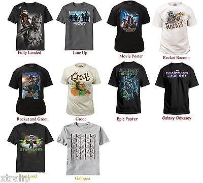Authentic Marvel Comic Guardians Of The Galaxy Adult Men T-Shirt S, M, L, XL,2XL