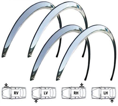 10-14 FORD FOCUS III Radlauf Zierleisten CHROM Tuning Vorne Hinten 4 Stück Bj