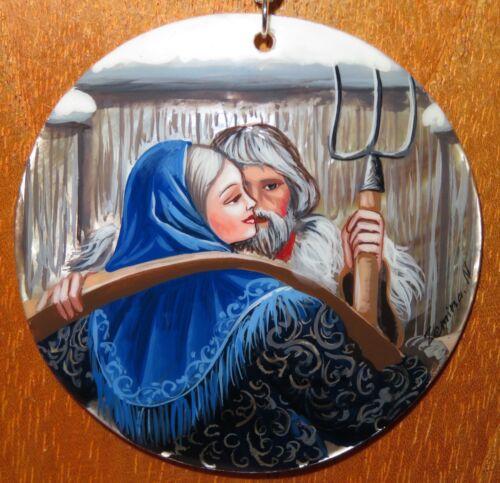 Colgante De Concha cerca de la ventana del otro Konstantin Vasilyev Pintado a Mano Firmado