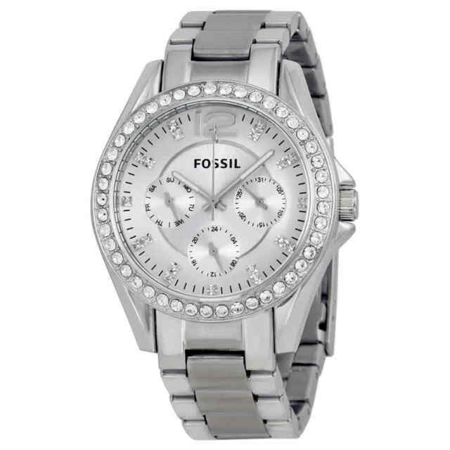 Fossil Riley Multi-Function Silver Dial Ladies Watch ES3202