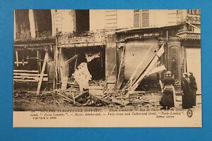 France-Marne-51-AK-CPA-Reims-1914-15-Rue-de-Vesle-et-de-Talleyrand-Maison-Person