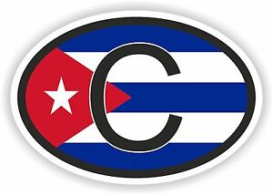 Image Is Loading Cuba Country Code Oval With Flag And C