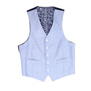 Lauren by Ralph Lauren Mens Suit Vest Blue Size 2XL Button Down $125 #114