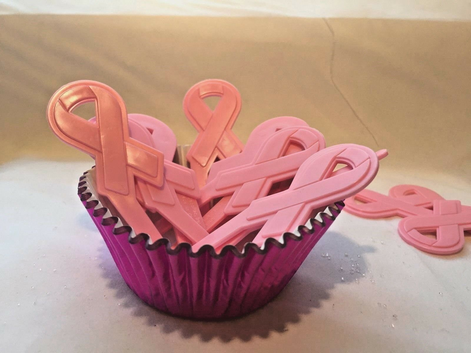 Breast Cancer Cupcake Liners Pink and White 24 ct.