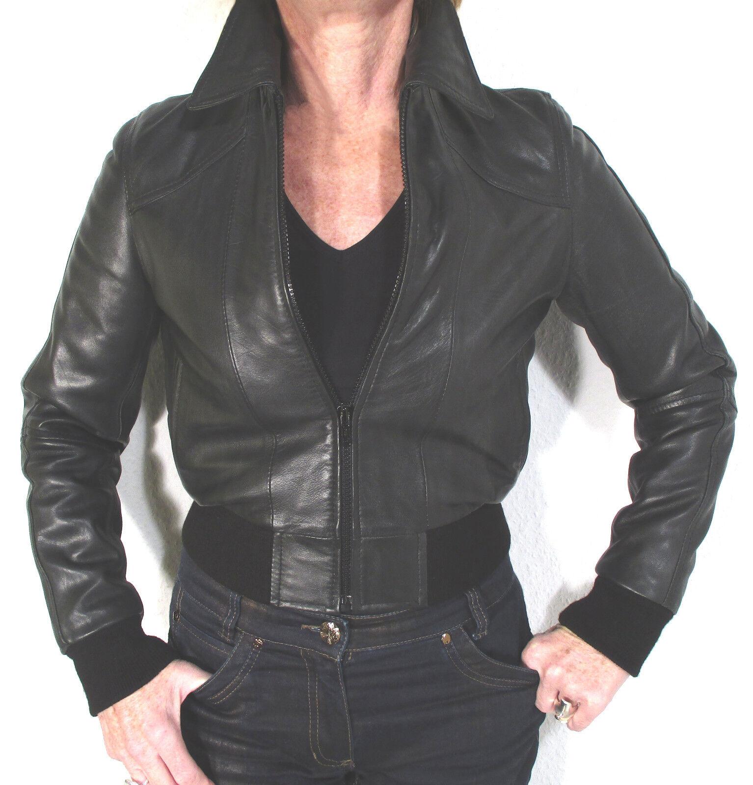 64067dcd982b5d Lederjacke Marke Blouson Form Schwarz Größe 34 Douglas Mac nupdtw7287-neue  Kleidung