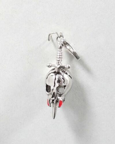 Gooix Charm KTC005 Totenkopf mit Schwert 925 Silber ehem.UVP 69.-€  Nr.13