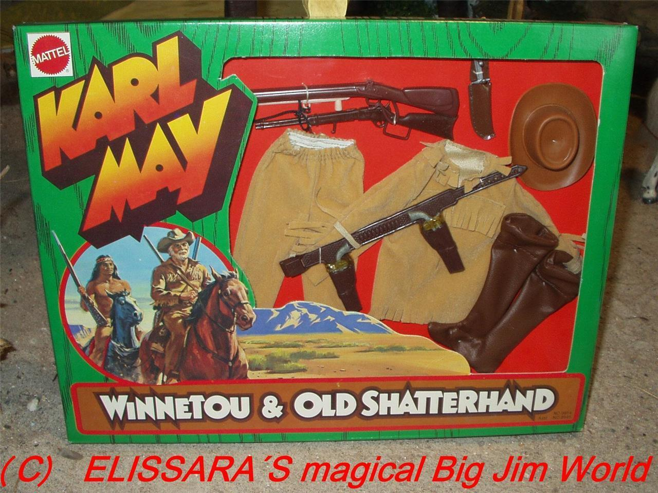Big Jim - Karl May - OLD SHATTERHAND - Winnetou - OVP   MIB - Mattel - no.9914