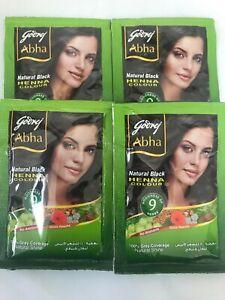 Godrej Abha Henna Natural Black Hair Color Powder 6 Pouch 10 G Each 8901023009006 Ebay