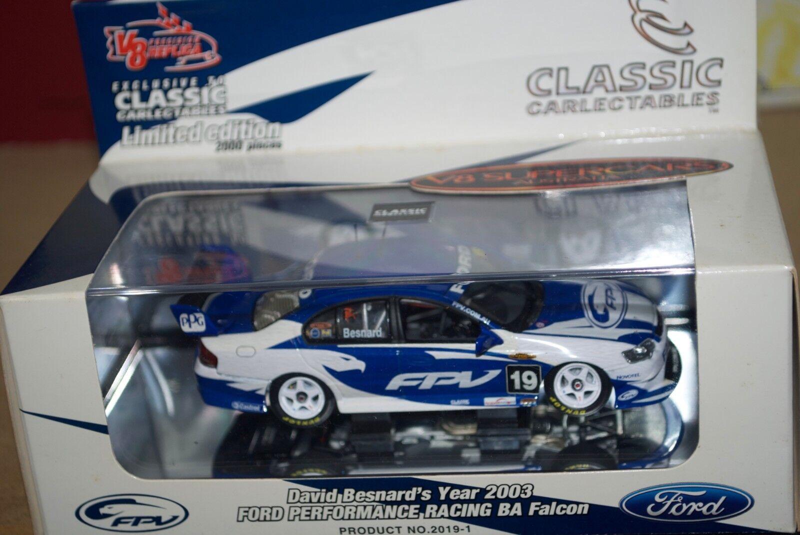 Classic Carlectables 1 43 2003 FPV David Besnard Ford BA Falcon V8 2019-1