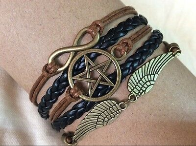 Handmade STEAMPUNK Bracelets Supernatural-Infinity-Wings Bracelets