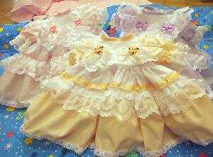 Sueno-Bebe-Nina-Tradicional-Romani-con-volantes-vestido-rosa-lila-peachor-reborn