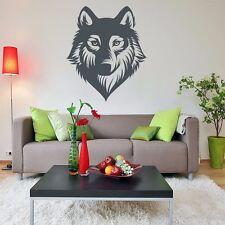 Wolf Wolves Gesicht Wandtattoo Wallart Wallpaper Aufkleber Wandbild 68 x 58 cm