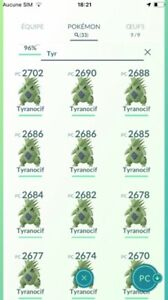 Pokémon Go - Trade / Echange - Tyranocif / Tyranitar level 25  !!!