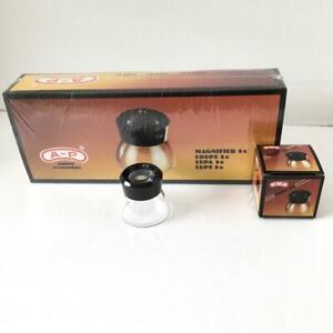 10-Loupe-Magnifier-A-P-8X-LUPE-Viewer-Fine-Print-Jewels-Film-Slides-Lupa-NIB