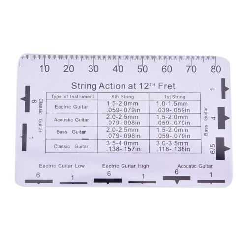 Guitar Accessories Measuring Ruler for Guitar Electric 95*63mm Stainless SteRSDE