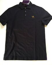 Ralph Lauren Purple Label Made in Italy 100% Cotton Mesh Polo Shirt Sz S ~ Navy