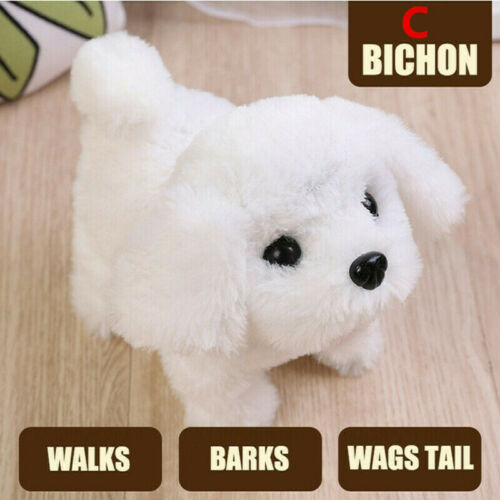 Electronic Interactive Puppy Dog Pet Soft Plush Animal Robot Kids Baby Toys Gift